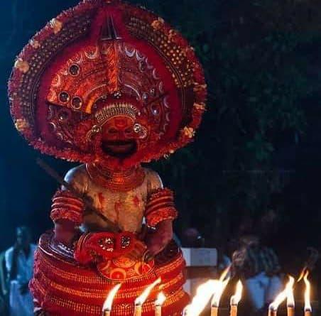 Terrifying Kudiveeran Theyyam - കുടിവീരൻ 2020 1