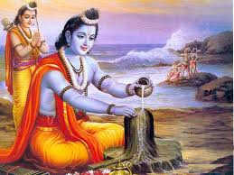 Why did Lord Rama go into exile for 14 years?